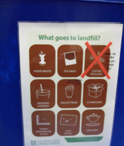 We recycle Coffee Grounds